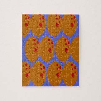 Puzzle Oro de los limones del diseño en azul