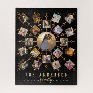 Puzzle Oro del negro de imágenes del collage 21 de la