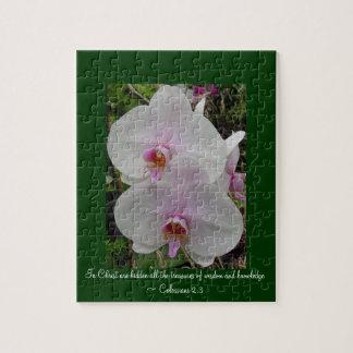 Puzzle Orquídea - flor rosado (Colossians 2: 3)