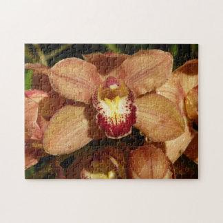 Puzzle Orquídeas del melocotón con floral hermoso de las