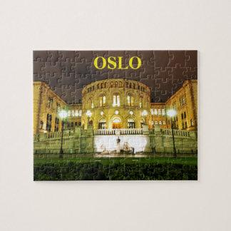 Puzzle Oslo, Noruega en la noche