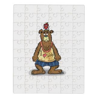 Puzzle Oso de Brown del dibujo animado que se coloca en