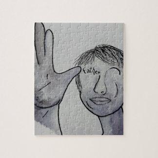 Puzzle Padre del ASL en colores del dril de algodón