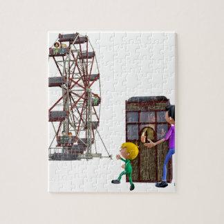 Puzzle Padre e hijo listos para montar una noria