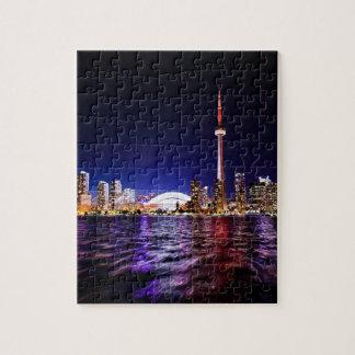 Puzzle Paisaje urbano céntrico de Toronto Canadá en la