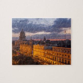 Puzzle Paisaje urbano en la puesta del sol, La Habana,