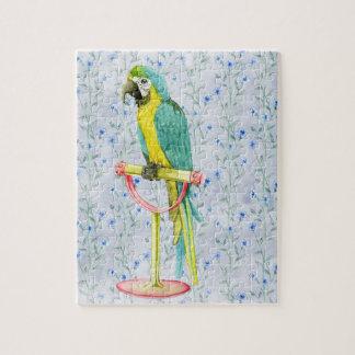 Puzzle Pájaro colorido exótico salvaje