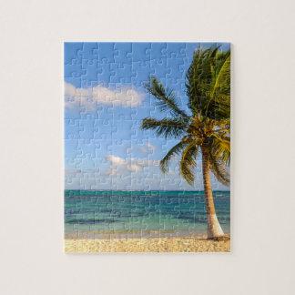 Puzzle Palmera y playa