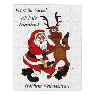Puzzle Papá Noel con los alces