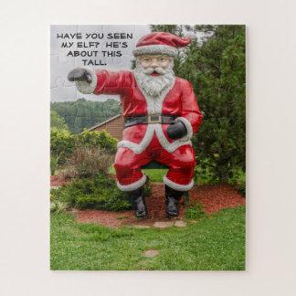 Puzzle Papá Noel - navidad - días de fiesta - humor