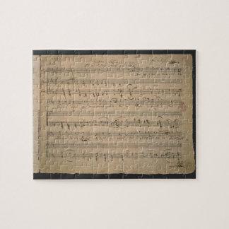 Puzzle Partitura antigua, canción del viejo hombre, 1822