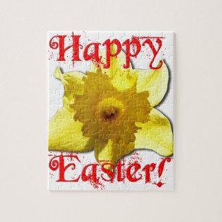 Puzzle Pascua feliz, narcisos 02.T