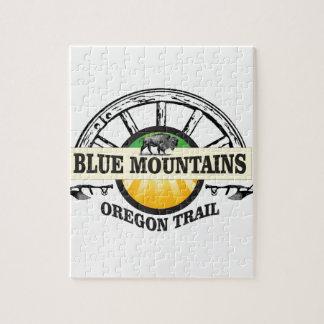 Puzzle Paso azul del ot de las montañas