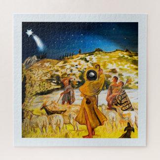 Puzzle Pastores en el navidad