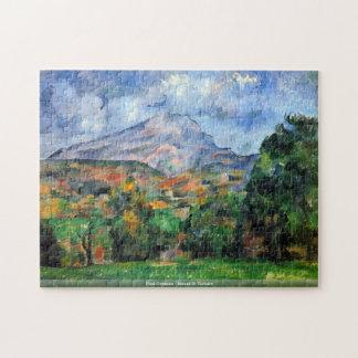 Puzzle Paul Cezanne - soporte St Victoire