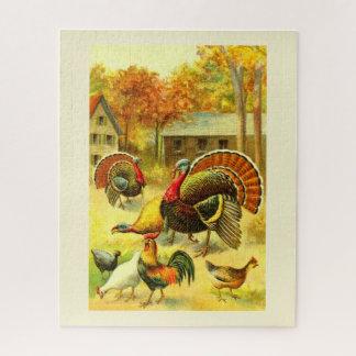 Puzzle Pavos y pollos