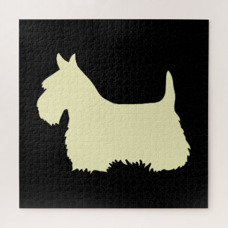 Puzzle Pedazo negro del sihouette heart/676 de Terrier