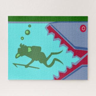 Puzzle Peligro del nadador de la nadada del peligro del