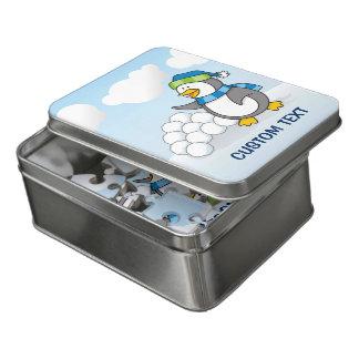 Puzzle Pequeño pingüino con agitar de las bolas de la