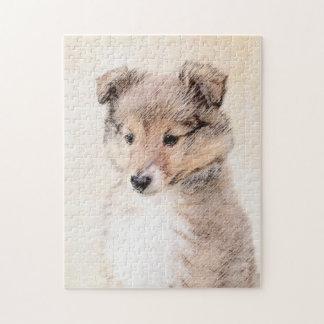 Puzzle Perrito del perro pastor de Shetland
