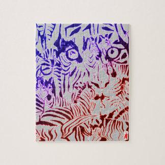 """Puzzle perrito rojo """"tigre y cebras, fuego y hielo """""""