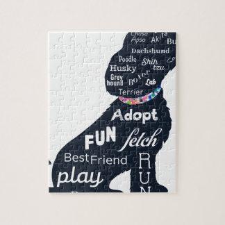 Puzzle Perro azul