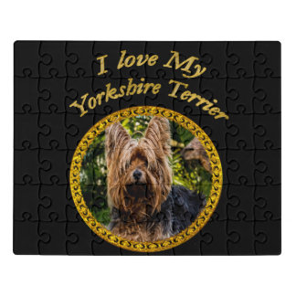 Puzzle Perro dulce del terrier de Yorkshire pequeño