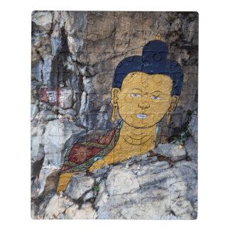 Puzzle Pintura de la roca de Buda