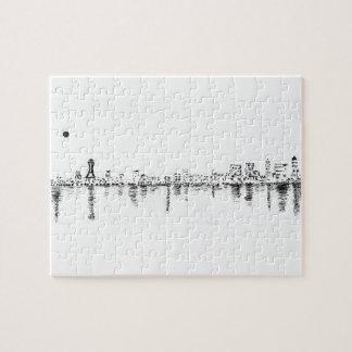 Puzzle pintura del bw Seattle