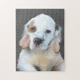 Puzzle Pintura del perro de aguas de Clumber - arte