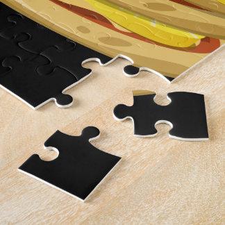 Puzzle Pizza al revés del papl de la comida de la