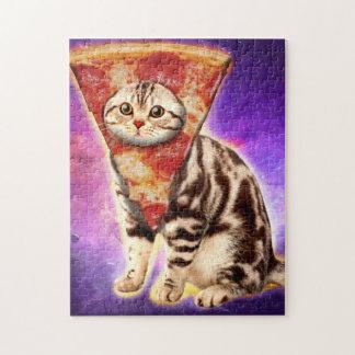 Puzzle Pizza del gato - espacio del gato - memes del gato