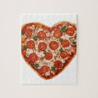 Puzzle pizza en forma de corazón