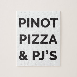 Puzzle Pizza, Pinot e impresión divertida del vino del PJ