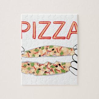 Puzzle Pizza sabrosa del dibujo animado y Hands3