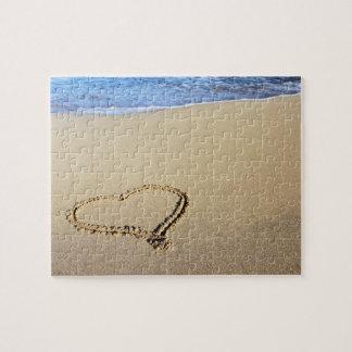 Puzzle Playa del corazón del amor