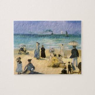 Puzzle Playa en Boulogne por Manet, impresionismo del