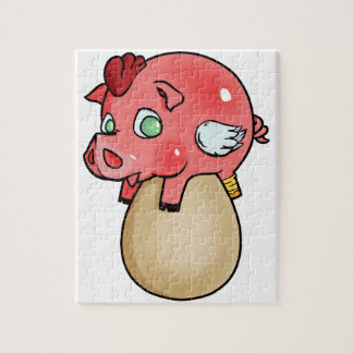 Puzzle ¡Pollo, cerdo, Cheeken-Peeg!