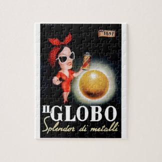 Puzzle Poster italiano 1949 de la publicidad de IL Globo