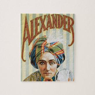 Puzzle Poster mágico del vintage, Alexander, el hombre