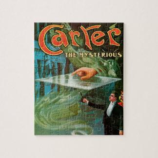 Puzzle Poster mágico del vintage, Carretero el misterioso