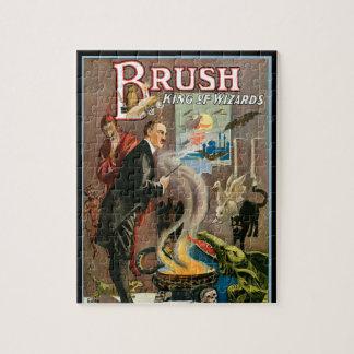 Puzzle Poster mágico del vintage, cepillo, rey de magos