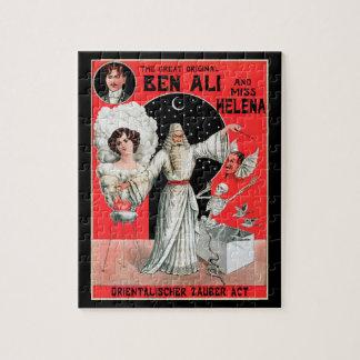 Puzzle Poster mágico del vintage, gran Ben original Ali