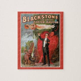 Puzzle Poster mágico del vintage, gran mago de Blackstone