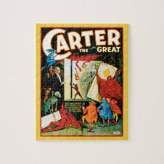 Puzzle Poster mágico del vintage, mago Carretero el