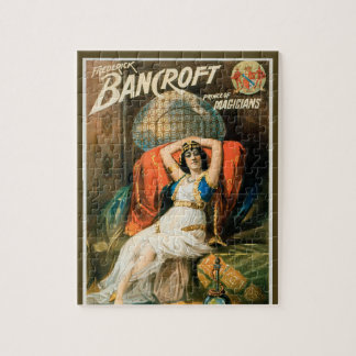 Puzzle Poster mágico del vintage, mago Frederick Bancroft