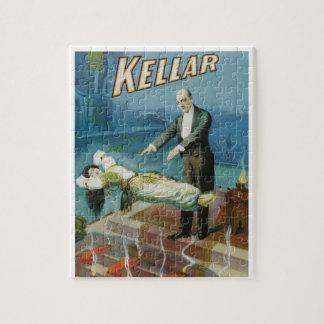Puzzle Poster mágico del vintage, mago Harry Kellar