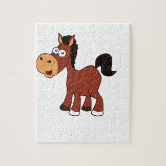 Puzzle potro rojo del caballo