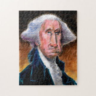 Puzzle Presidente Caricature Puzzle: George Washington