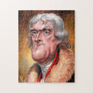 Puzzle Presidente Caricature Puzzle: Thomas Jefferson